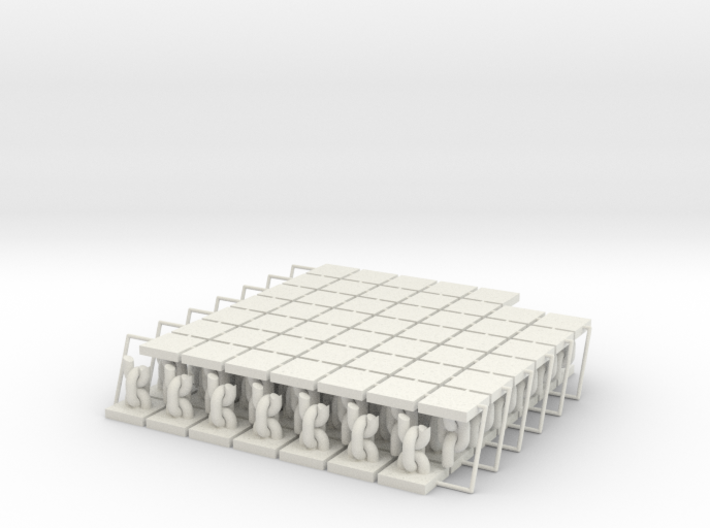 """Freed Slave Tokens (96 pcs) - """"Broken Chain"""" 3d printed"""