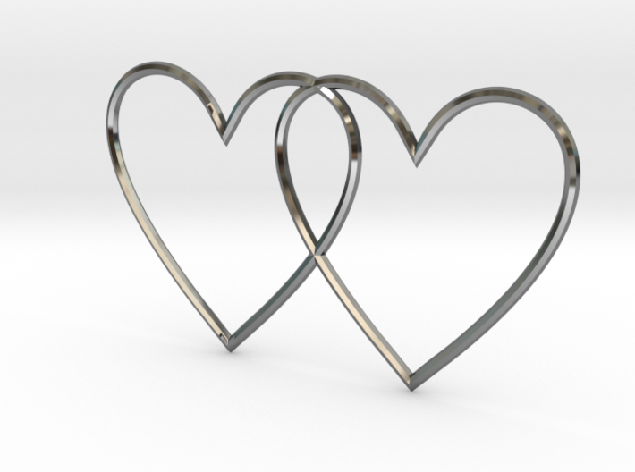 Hearts together 3d printed