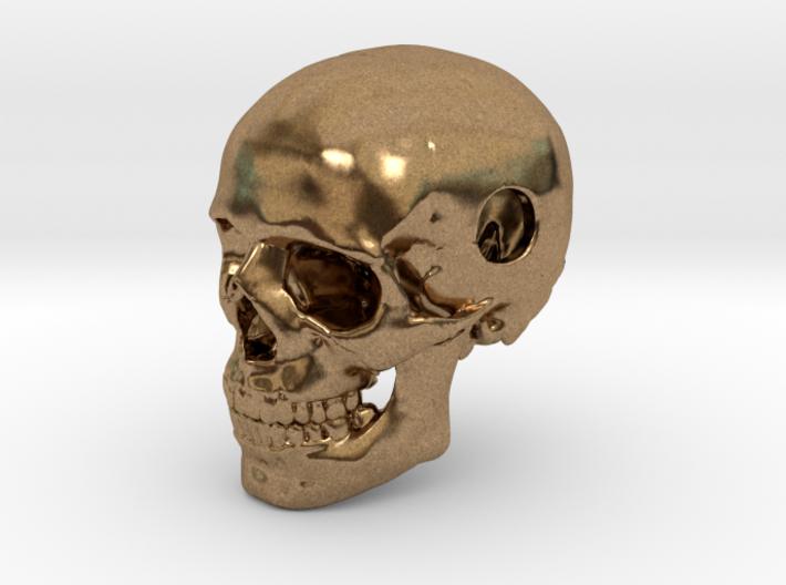 25mm 1in Bead Human Skull Pendant Crane Schädel 3d printed