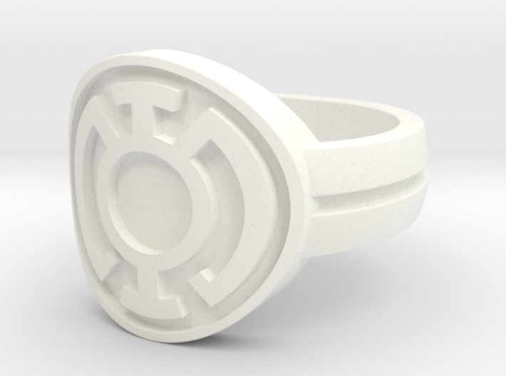 Blue Lantern Double Banded Sz 8 3d printed