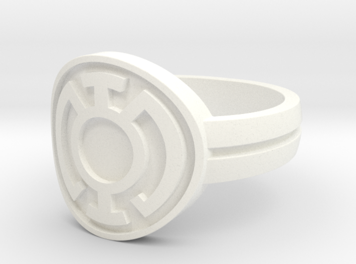 Blue Lantern Double Banded Sz 14 3d printed