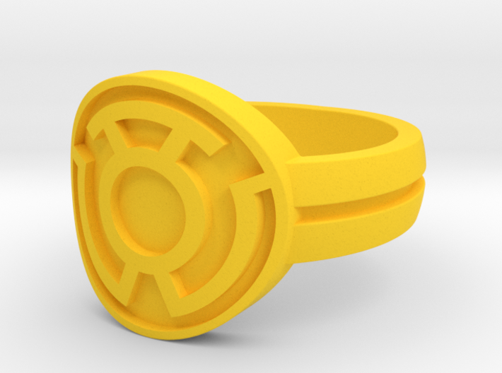 Sinestro Double Banded Sz 10 3d printed