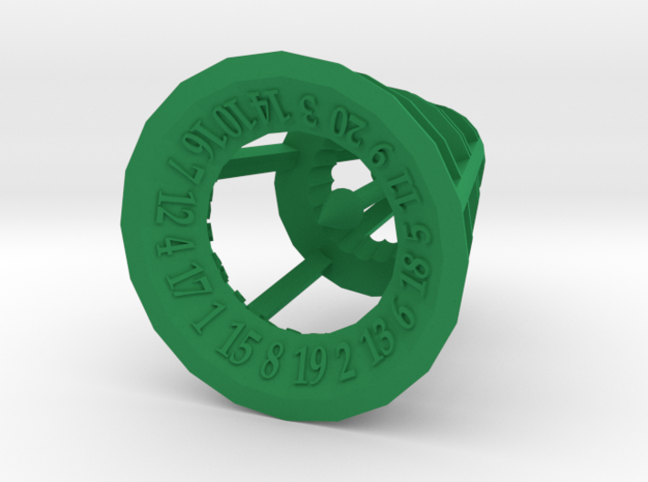 Rolling Bell d20 3d printed