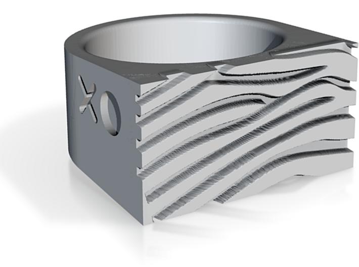Zebra Ring 3d printed