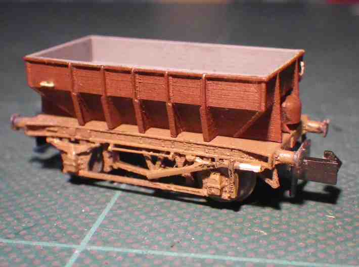 GWR Design P22 Ballast Hopper 3d printed Finished