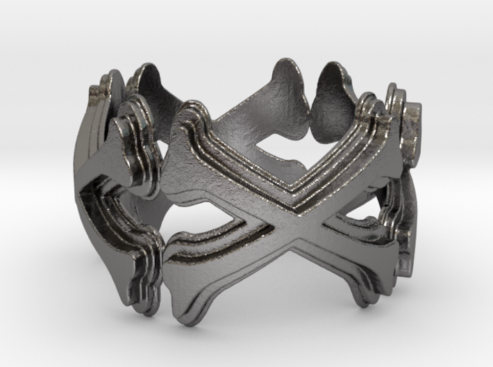 Crossbones Ring 10 Ring Size 10 3d printed