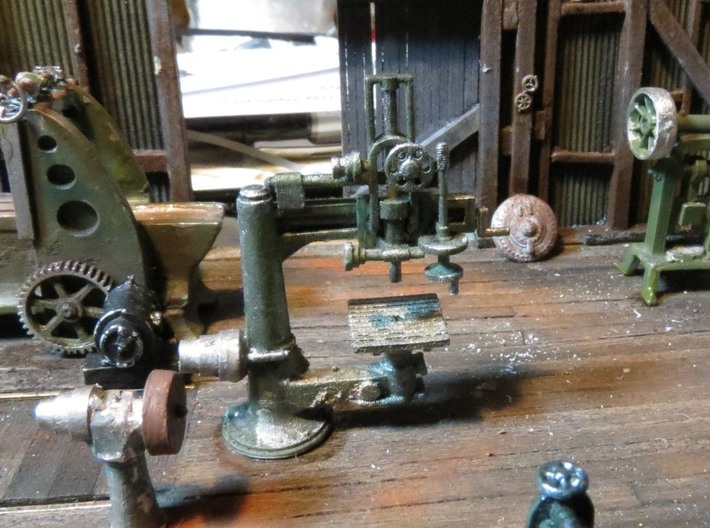 Radial Drill Press HO Scale 3d printed Add a caption...