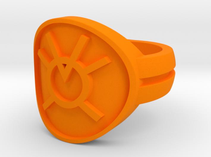 Orange Avarice Double Banded Sz 5 3d printed