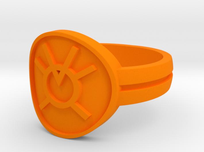 Orange Avarice Double Banded Sz 14 3d printed