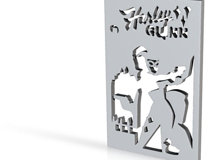 HarleyQuinn Inspired Book Cover Pendant 3d printed