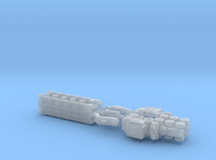 HETS M1070 / M1000 Truck & Trailer 1/160 / N-Scale 3d printed