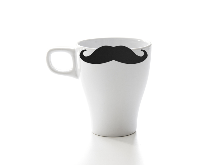 Mug & glass accessories Mustache 5 3d printed