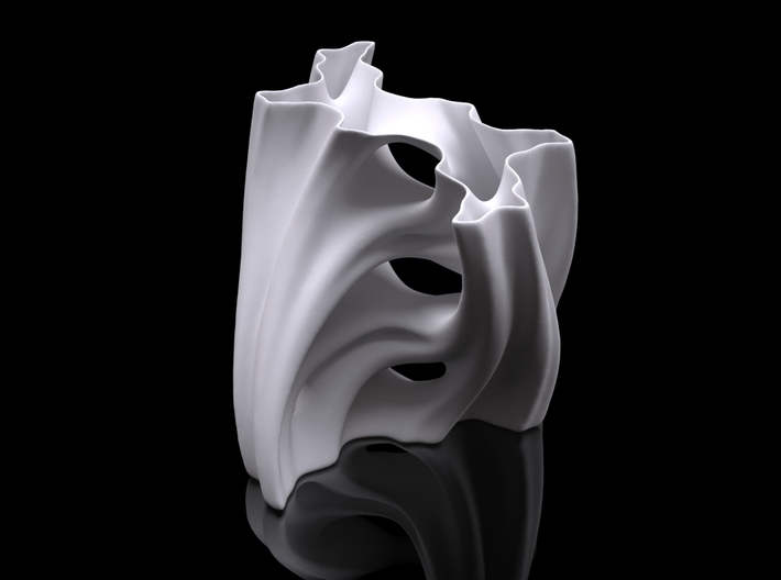 Julia Vase #001 - Aqua 3d printed Preview render