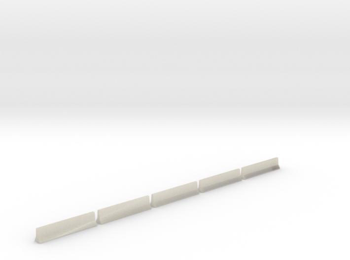 5 Highway Barriers (1:160) 3d printed