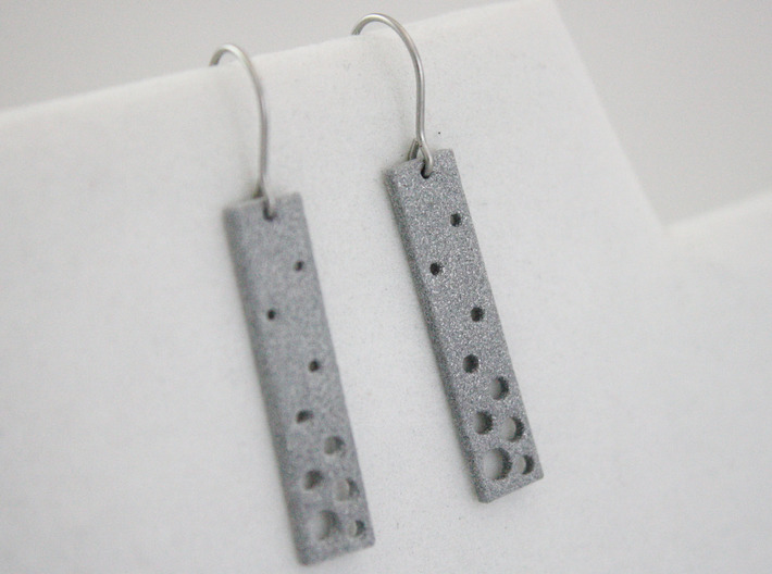 Evaporation Earrings 3d printed