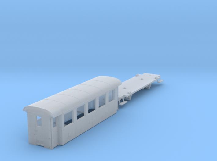 ZB (H0e) - 5-Fenster-Personenwagen B19 (neu) 3d printed