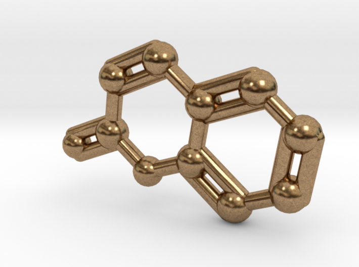 Coumarin Molecule Keychain Pendant 3d printed Coumarin Molecule Keychain Pendant