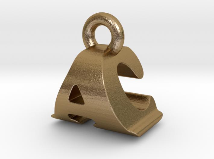 3D Monogram Pendant - ACF1 3d printed