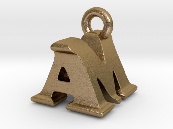 3D Monogram Pendant - AMF1 3d printed