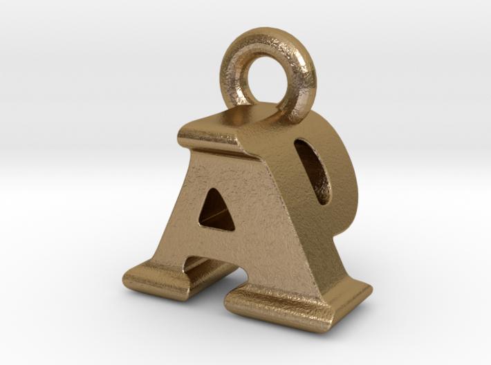 3D Monogram Pendant - APF1 3d printed