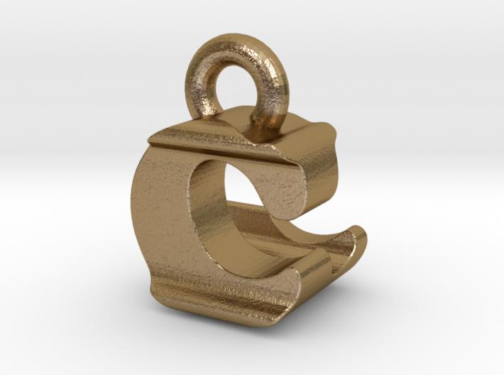 3D Monogram Pendant - CLF1 3d printed