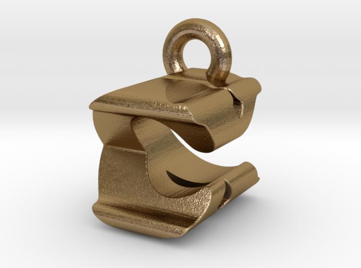 3D Monogram Pendant - CXF1 3d printed
