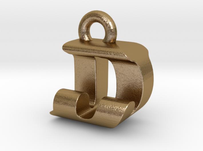 3D Monogram Pendant - DJF1 3d printed