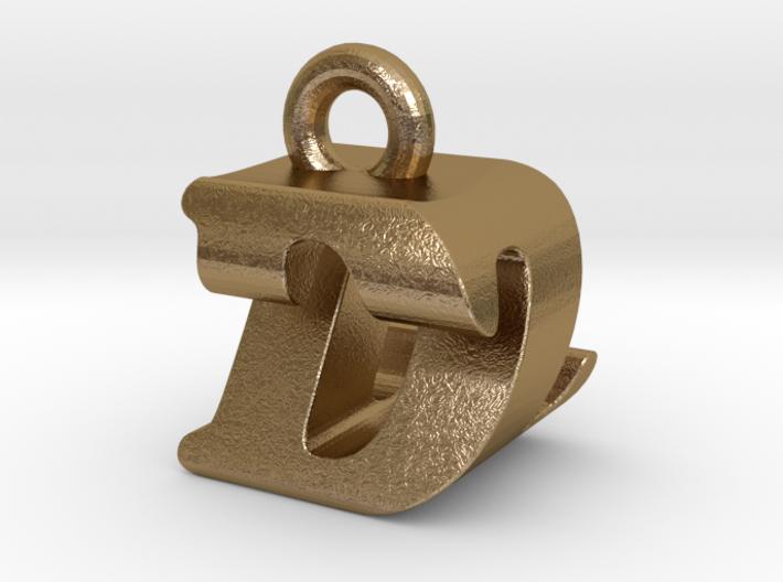 3D Monogram Pendant - DZF1 3d printed