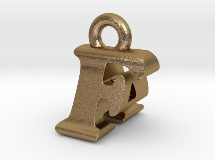 3D Monogram Pendant - FAF1 3d printed