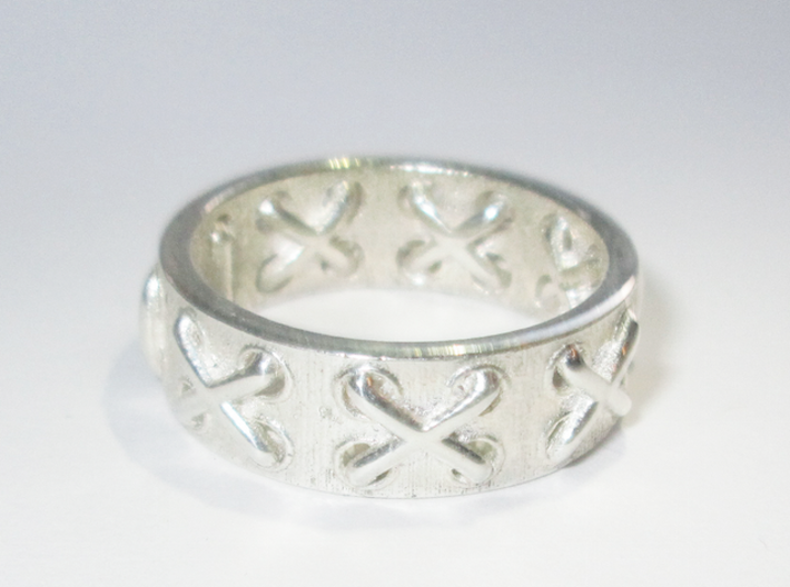 Lace-up Ring - Sz. 9 3d printed