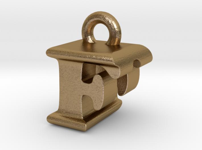 3D Monogram Pendant - FDF1 3d printed
