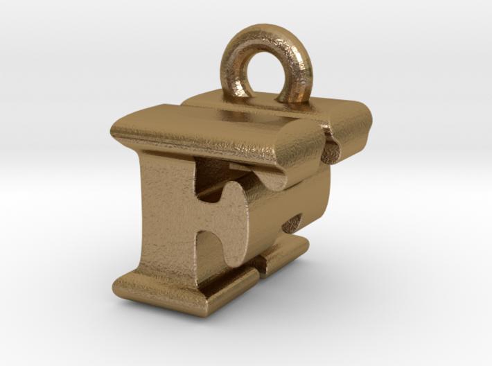3D Monogram Pendant - FHF1 3d printed