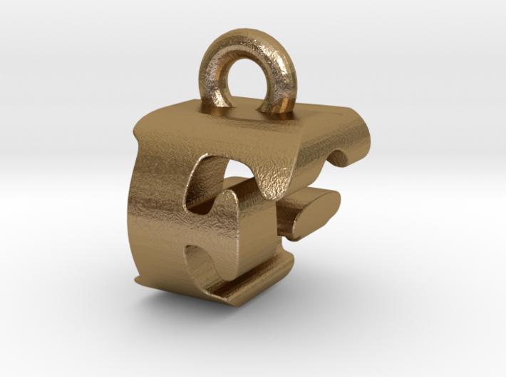 3D Monogram Pendant - FGF1 3d printed