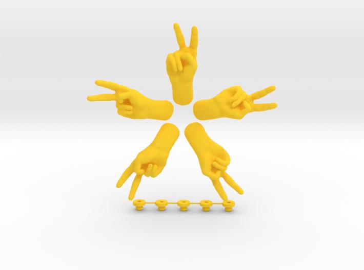 Peace • Hook / Fridge Magnet [5pcs] 3d printed