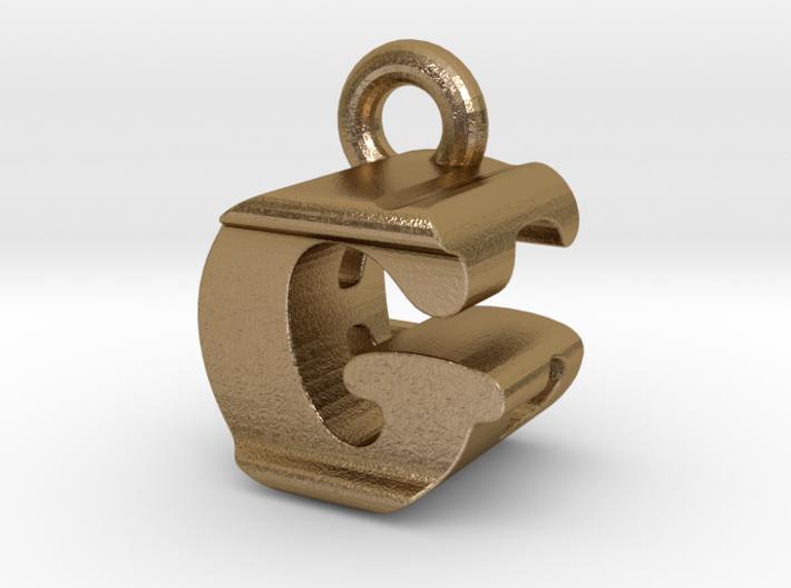 3D Monogram Pendant - GEF1 3d printed