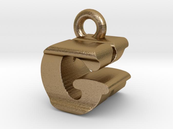 3D Monogram Pendant - GKF1 3d printed
