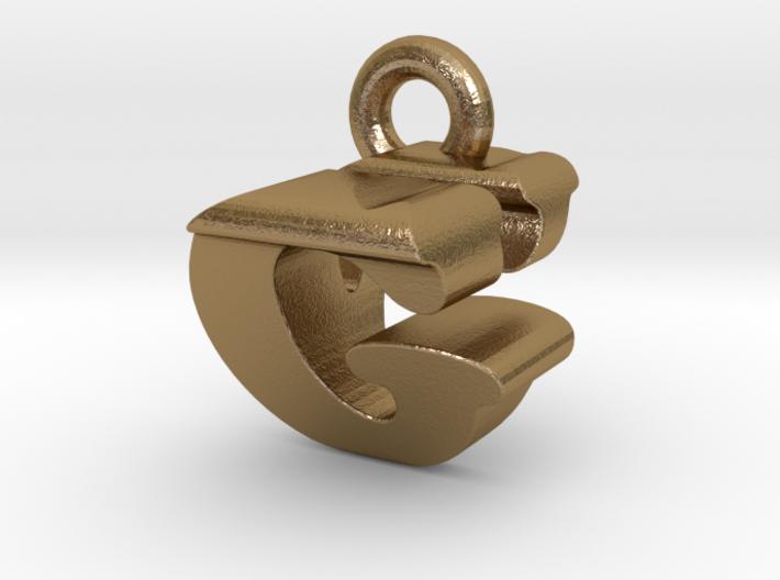 3D Monogram Pendant - GVF1 3d printed