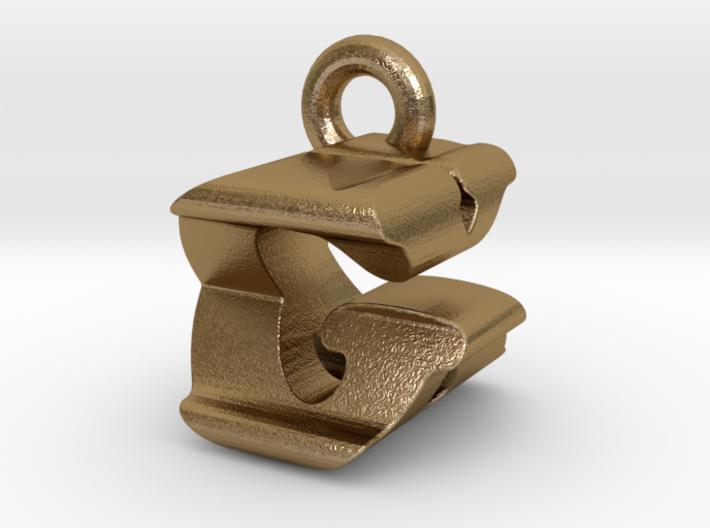 3D Monogram Pendant - GXF1 3d printed