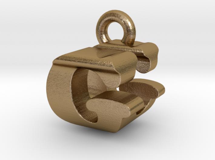 3D Monogram Pendant - GUF1 3d printed
