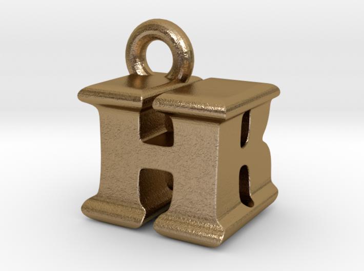 3D Monogram Pendant - HBF1 3d printed