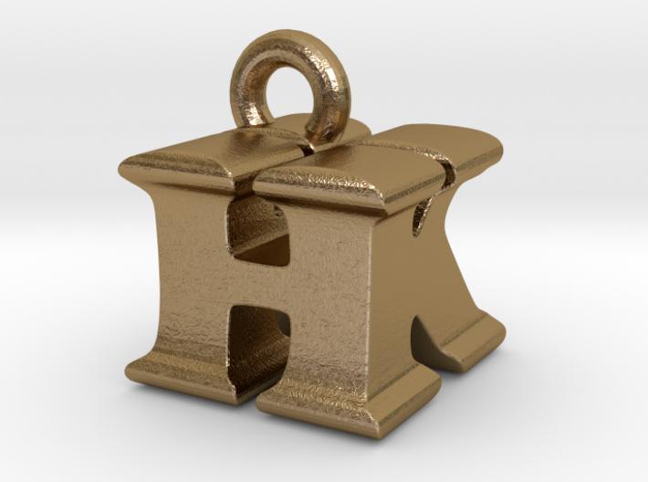 3D Monogram Pendant - HKF1 3d printed