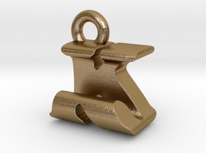 3D Monogram Pendant - KJF1 3d printed