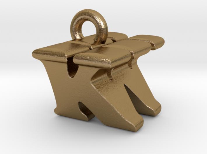 3D Monogram Pendant - KWF1 3d printed