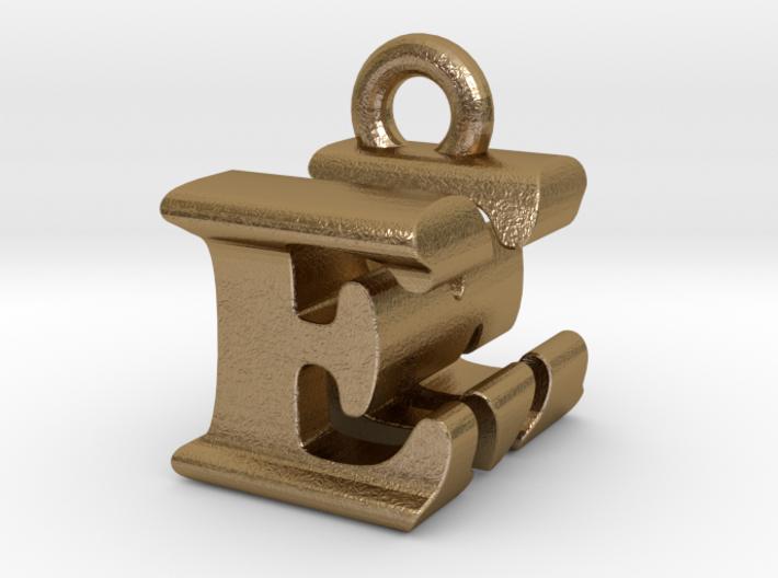3D Monogram Pendant - EMF1 3d printed