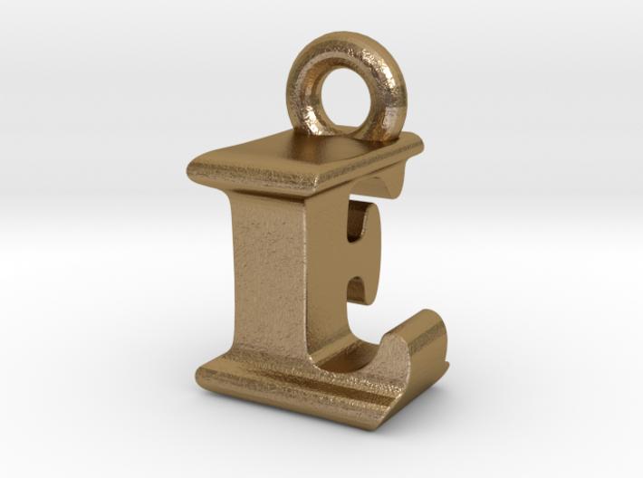 3D Monogram Pendant - LFF1 3d printed