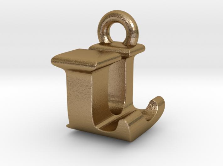 3D Monogram Pendant - LUF1 3d printed