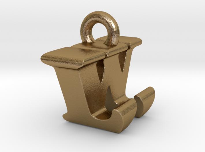 3D Monogram Pendant - LWF1 3d printed