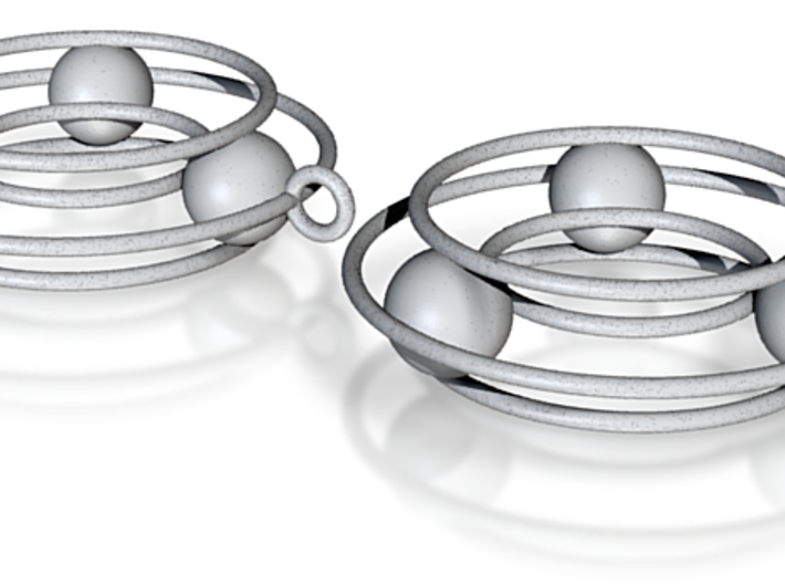 bearing earrings 3d printed