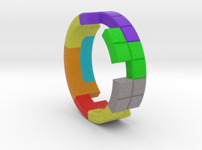 Tetris Ring Size 10 3d printed