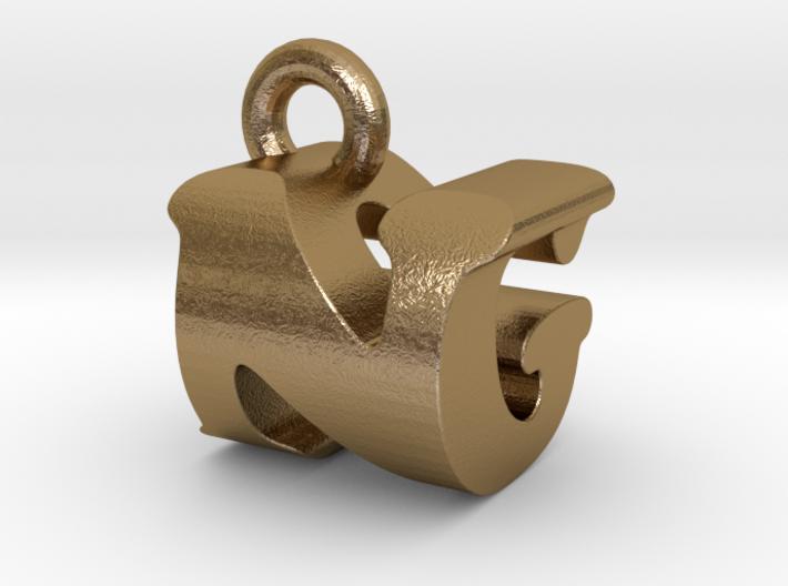 3D Monogram Pendant - NGF1 3d printed